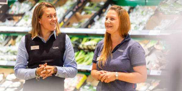 Lidl colleagues at work