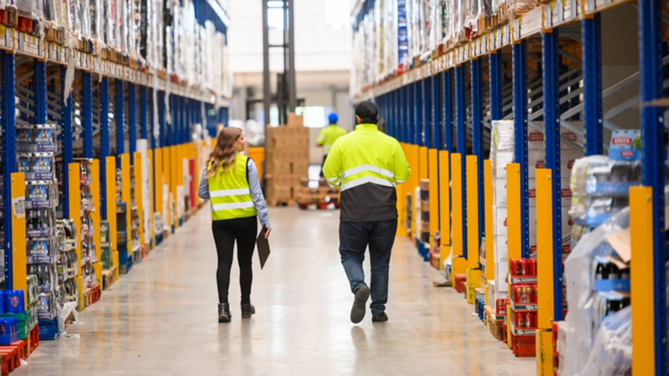 working in a Lidl warehouse